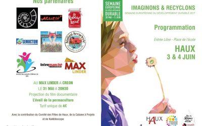 «Imaginons & Recyclons»,  à Haux les 03 et 04 juin 2017