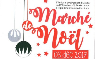 Marché de Noël avec les Parents d'Élèves de Haux
