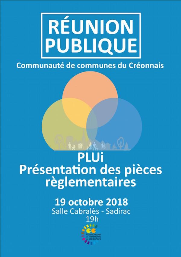 PLUi - Présentation des pièces règlementaires du PLUi 19.10.18