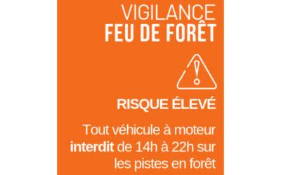 Vigilance orange risque feux de forêt
